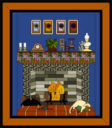 My Dream House Quilt Project - Fireplace
