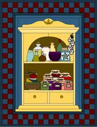 My Dream House Quilt Project - Kitchen Cupboard
