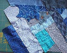 free motion fabric scrap collage